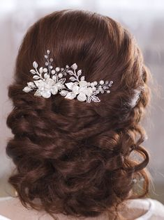 Bridal hair pins Wedding hair pins Flower hair pins by TopGracia