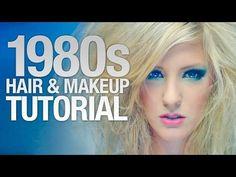 Kiểu makeup thịnh hành trong những năm 1980s  vẫn là kiểu lông mày nhỏ  nhưng màu mắt được đánh đậm hơn ,và thường là những màu xanh và màu má cũng là những tông màu đậm.