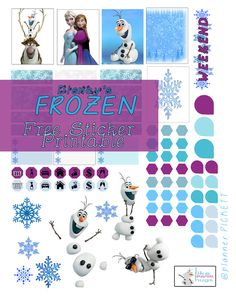 free frozen free sticker printable  for planners crafters an scrapbookers