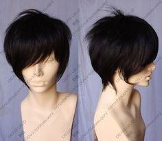 TT 18 Cosplay Wigs New Short Black Fashion Wig Free Gift | eBay    For Jenna