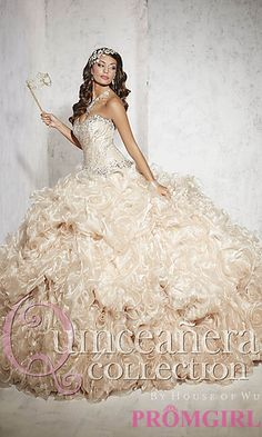 Elegant Sweetheart Quinceanera Dress by House of Wu at PromGirl.com