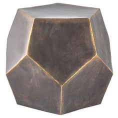 Diamond Decor Stool Bronze | Overstock.com Shopping - The Best Deals on Coffee & Side Tables