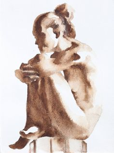 series sitting 2 Painting by Andrei Sharov Watercolor Portraits, Watercolour Painting, Painting & Drawing, Painting Abstract, Acrylic Paintings, Figure Sketching, Figure Drawing, Portrait Art, Portrait Paintings