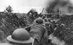 This shows soldiers in French trenches.                                                                                                                                                                                 More