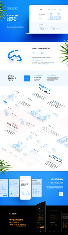 Brand and web-site creation for digital agency on Behance