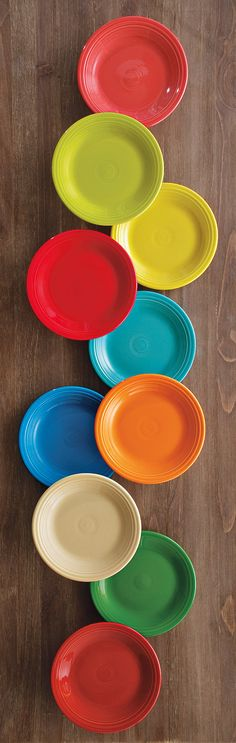 WHIMSICAL wedding style: Fiesta Dinnerware #home #bridal  love my Fiesta, Can you believe I am missing the lime green place setting. Hint hint children make a nice Christmas gift