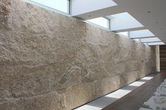 """wine cave"" walls - coral stone split face"