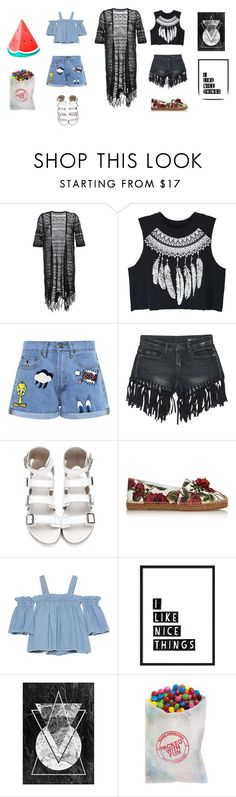 """Aksinia and Gayka"" by bananabecool on Polyvore featuring мода, Guild Prime, WithChic, Paul & Joe Sister, Sans Souci, Dolce&Gabbana, SJYP и Sunnylife"