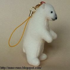 Free sewing pattern for tiny polar bear