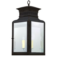 """""""Patrician"""" - an interior or exterior lantern of hand-hammered copper from the Maker's Mark Collection."""