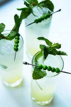 Add muddled peas to a simple mojito, and you'll never say no to drinking your greens.