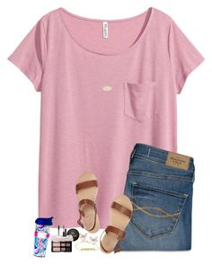 """My friend is gonna be cheering at the LSU game Saturday!!!"" by to-much-prep ❤ liked on Polyvore featuring H&M, Abercrombie & Fitch, Ancient Greek Sandals, Kendra Scott, NARS Cosmetics, Kylie Cosmetics and Lilly Pulitzer"