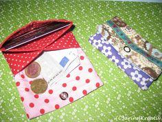 Nähen: Geldtäschchen. Tutorial: http://carinakreativ.blogspot.de/2011/07/der-kleine-bruder-vom-groen-geldbeutel.html