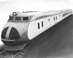 The nation's first streamlined passenger train was built by the Pullman Company for Union Pacific. It was delivered to Chicago on February 25, 1934, to begin a year-long tour of the United States.