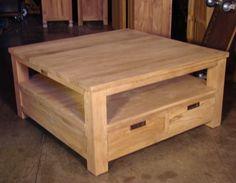 salontafel vierkant met 4 laden