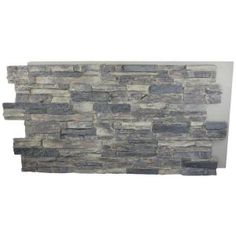 Superior Building Supplies Gray Rock 24 in. x 48 in. x 1-1/4 in. Faux Grand Heritage Stack Stone Panel HD-COL2448-GR at The Home Depot - Mobile