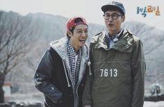 JJY×JUHYEOK Two Days One Night, 1st Night, Kim Joo Hyuk, Jung Joon Young, Korean Variety Shows, Rain Jacket, Bomber Jacket, Hashtags, Korean Singer