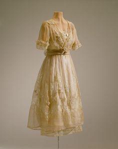 Vintage 1930s dress on display at the Hillbrook Estates.
