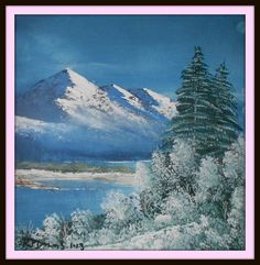 Winter Snow. Painted around March 2012, wet on wet. part of a set of two. size 200 mm x 200 mm. for Sale $ 15 Winter Snow, March, Paintings, Mountains, Nature, Travel, Naturaleza, Viajes, Paint