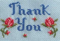 Thank You Card Kit (cross stitch) • vintage style thank you cross stitch design • Thank you to my fellow Pinners and Followers for your support, encouragement, interest and for sharing all your Pinning work with me • kind regards, riawati • thank you, pinners