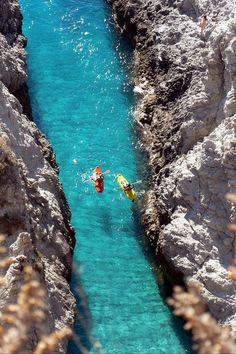 Kayaking, Capo Vaticano, Italy by Paolino Paperino