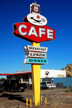 Roadrunner Cafe New Mexico #Route66 #Sign via flickr