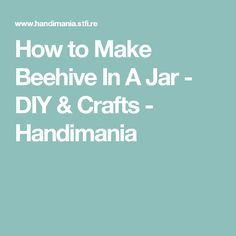 How to Make Beehive In A Jar - DIY & Crafts - Handimania