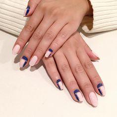 """#negativespace nails inspired by @nail_unistella on Natasha using @tenoverten Foundation, #RGBbcosmetics Moon"" - @purplenailbox • www.RGBcosmetics.com/Moon"