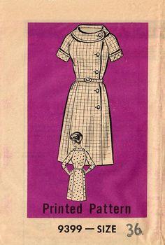 1960s Mail Order 9399 UNCUT Vintage Sewing Pattern Women's
