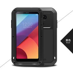 For LG G6 Cover 5.7'' for LG G6 Shockproof Case LOVE MEI Quality TPU & Hard Metal Back Cover & Toughened Glass Phone Cases