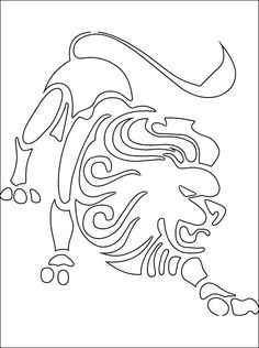 leo coloring page coloring pages