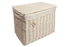 Features: Removable and washable cloth lining Storage trunk with cloth lining Multi-use basket and cloth fabric to protect contents Basket has inset Lined Wicker Baskets, Wicker Hamper Basket, Plastic Baskets, Fabric Basket, Storage Trunk, Crate Storage, Storage Boxes, Storage Baskets, Storage Chest