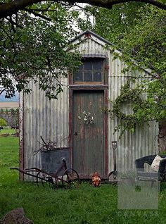 20 Rustic Garden Inspiration Garden shed Garden Buildings, Garden Structures, Rustic Shed, Do It Yourself Decoration, Metal Shed, Rusty Metal, Build Your Own Shed, Shed Kits, She Sheds