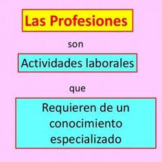 Las Profesiones son Actividades laborales que Requieren de un conocimiento especializado   es decir Asistir a la universidad Ejemplos: + El doctor + El pr. http://slidehot.com/resources/las-profesiones-2.32784/