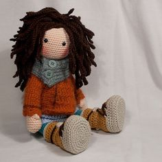 Ganchillo patrones para muñeca MONJA Deutsch Inglés por CAROcreated