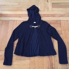 °° Navy // Red Ridinghood \\ Sweater NWT. Rope hook in front. Light sweater with hood. Necessary Clothing Sweaters Cardigans