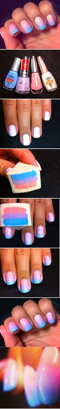 Gorgeous Pastels and Ombre Nails Art Design Tutorials / LoLus Nails Fashion