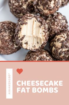 Finish off Valentine's Day dinner with this creamy, delicious dessert. Finish off Valentine's Day dinner with this creamy, delicious dessert. Keto Valentines Day, 3 Ingredient Cheesecake, Cream Cheese Fat Bombs, Bombe Recipe, Healthy Holiday Recipes, Cheesecake Fat Bombs, Creamy Peanut Butter, Dark Chocolate Chips, Delicious Desserts