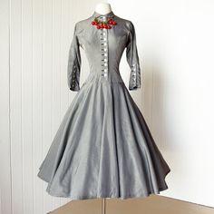 vestido Vintage 1950.. .fabulous JOAN BARRIE nueva york
