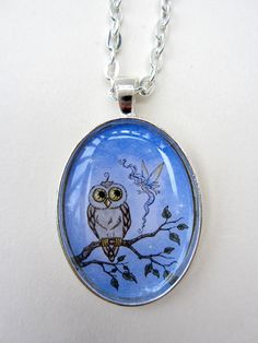 Owl and Fairy necklace by Amy Brown by AmyBrownArt on Etsy, $18.00  I love this pendant! ~Romilly