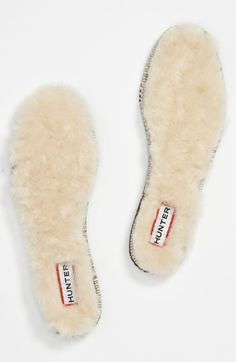 Shearling insoles for boots