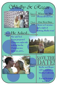 Timeline Save the Date Card Digital File by ImagineThatEvents, $15.00