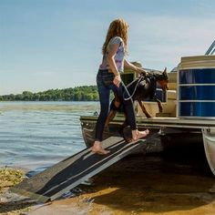 The Harbor Mate Aluminum Pontoon Boat Ramp from Discount Ramps is the perfect solution for loading and unloading people, pets, and supplies on and off your boat safely. Make A Boat, Build Your Own Boat, Wooden Boat Building, Boat Building Plans, Wooden Boat Plans, Pontoon Boat Accessories, Boating Accessories, Boat Lift, Boat Stuff
