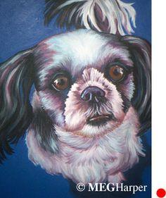 Duke Pet Dog Portrait ~ Meg Harper — Meg Harper Art  Are you looking for a painting of your magnificent pet? Have Meg create a pet portrait just for you, today.    #dog #puppy #best friend #inspirational #kindness #animalpainting #art #painting #pets #petportrait #animal #love #megharper #megharperart