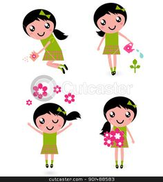 901488583-Cute-little-girl-with-spring-Flowers-isolated-on-white.jpg (414×464)