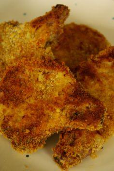 Panko breaded pork chops