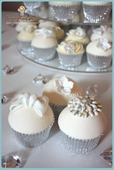 Glitz & Glamour Wedding Cupcakes from Scrumptious Buns, UK