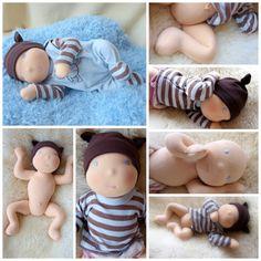 Waldorf inspired Baby Doll - weighted, nurture baby Honzík