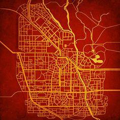 Raccoon City (Resident Evil) Map by City Prints Map Art