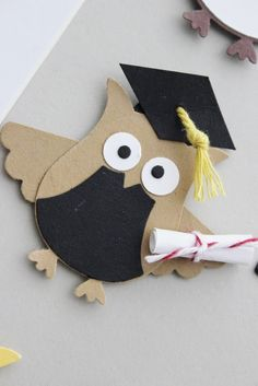 hello stamper: Stampin' Up! Owl Punch ideas More Graduation Cards Handmade, Handmade Cards, Owl Punch Cards, Paper Punch Art, Owl Card, Usa Tumblr, Kids Cards, Baby Cards, Creative Cards
